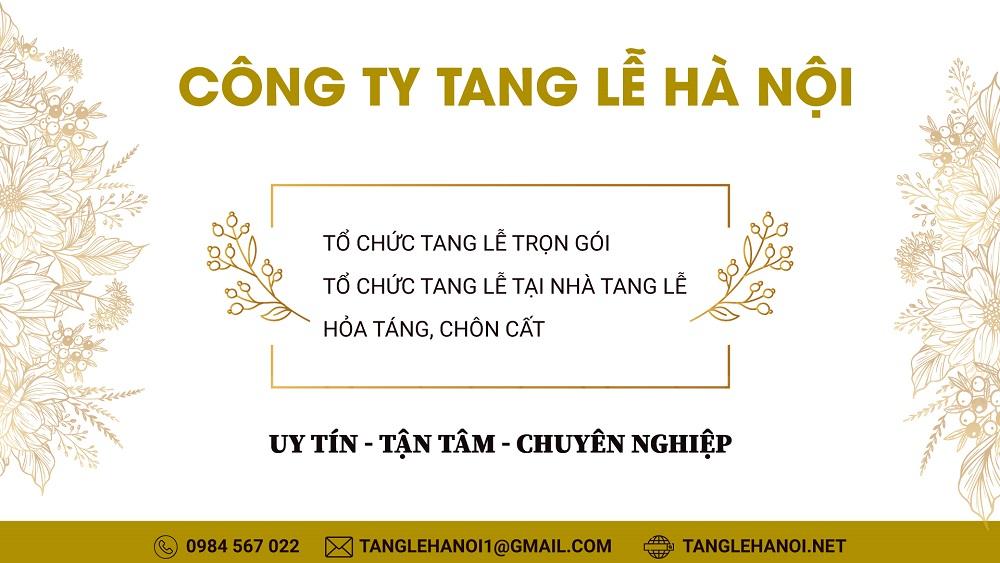 Dịch vụ tang lễ Hà Nội