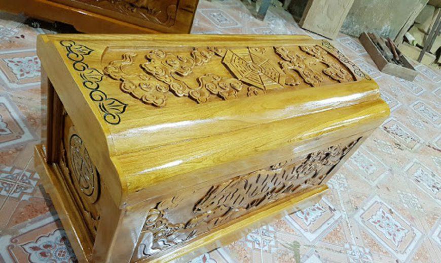 Áo quan gỗ vàng tâm