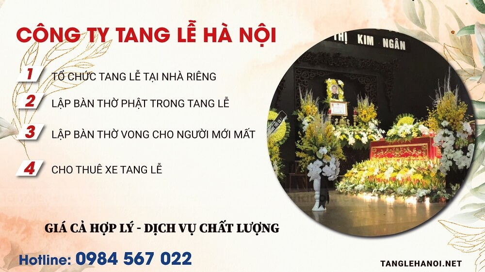 Dich vụ tổ chức tang lễ tại Nhà Tang Lễ trọn gói