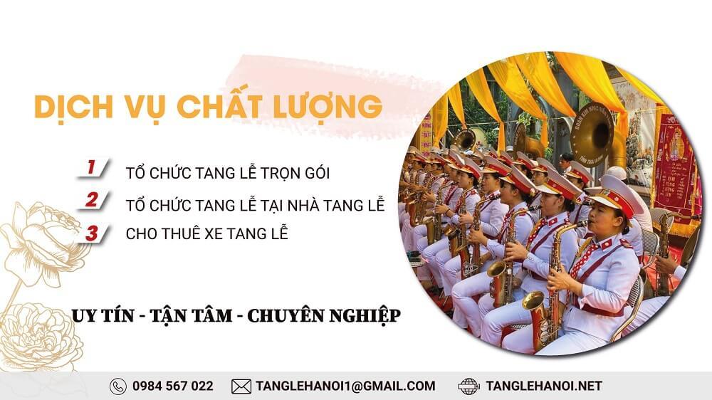 Tổ chức tang lễ tại nhà tang lễ Đức Giang, Tp Hà Nội
