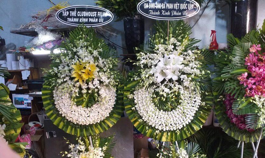 Dịch vụ đặt vòng hoa tang lễ tại Tp Hà Nội