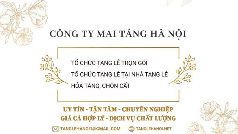 Dịch vụ tổ chức tang lễ 24/24 tại Hà Nội