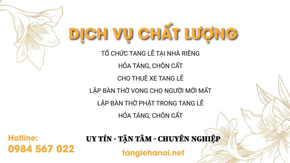Tang Lễ Hà Nội chuyên cung cấp dịch vụ bảo quản thi hài tại Tp Hà Nội