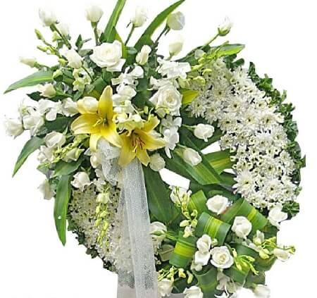 Vòng hoa tang lễ tại Tp Hà Nội