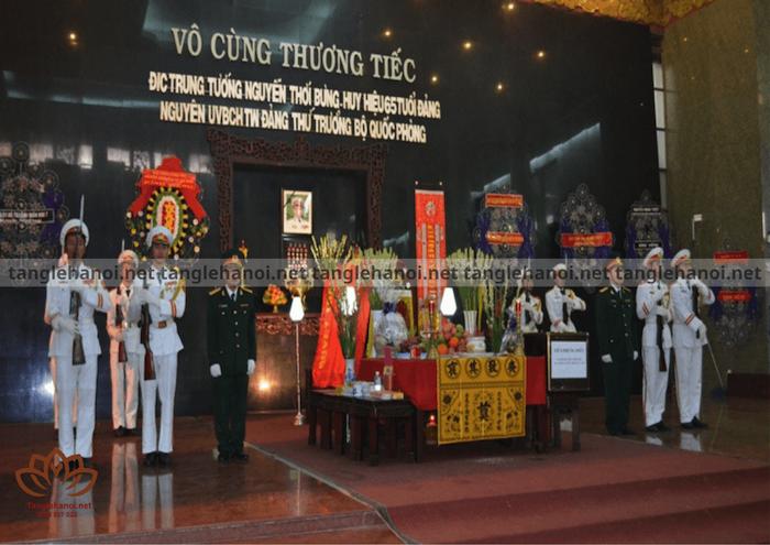 Quy trình tổ chức tang lễ dành cho cán bộ quân đội như thế nào